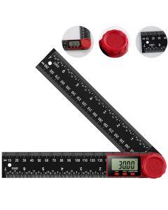 Koolertron Digital Protractor Digital Angle Finder Ruler Digital Goniometer 200mm 360 ° LCD Display Nylon Glass Rule Meter Measuring Tool
