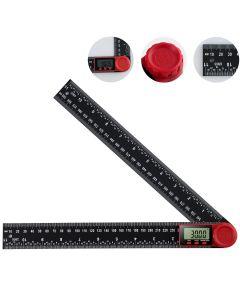 Digital Protractor Digital Angle Finder Ruler Digital Goniometer 300mm 360° LCD Display Nylon Glass Rule Meter Measuring Tool