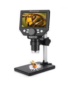 Koolertron 4.3 inch LCD Digital USB Microscope,8MP 1-1000X Magnification Handheld Electronic Video Recorder Camera,8 LED Light,Rechargeable Battery for Circuit Board Repair Soldering PCB Coins