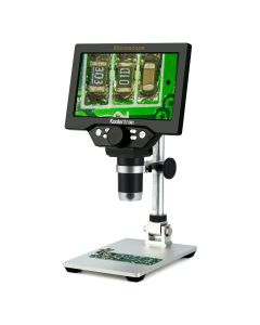7 inch LCD Digital USB Microscope,Koolertron 12MP 1-1200X Magnification Handheld Camera Video Recorder,8 LED Light,Rechargeable Battery for Circuit Board Repair Soldering PCB Coins