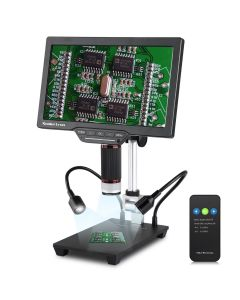 """Koolertron 10.1"""" LCD Digital Microscope Adjustable Display Bracket, USB Electronic Microscope Camera UV Filter with IR Remote HD for Circuit Board Repair Soldering PCB Coins"""