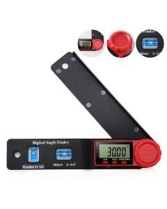 Digital Angle Finder Digital Protractor 180mm 200°with Horizontal and Vertical Level LCD Display Rule Meter Measuring Tool